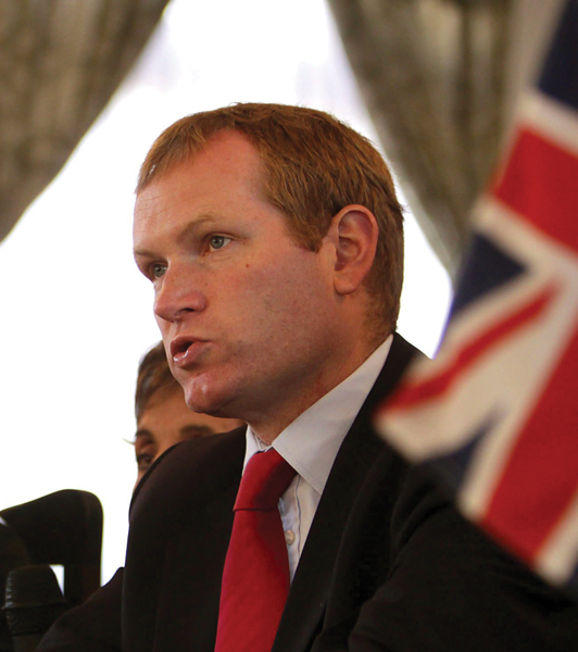 British Minister of State for Latin America, Jeremy Browne