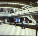 Project for the Estação das Flores platform of the Metro in Curitiba, Brazil. Credit: Prefeitura Municipal de Curitiba