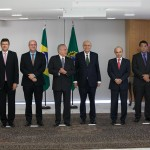 Goldfajn, third from left, with the rest of Brazil's new cabinet under interim President Michel Temer. Credit: Agência Brasil Fotografias/Flickr