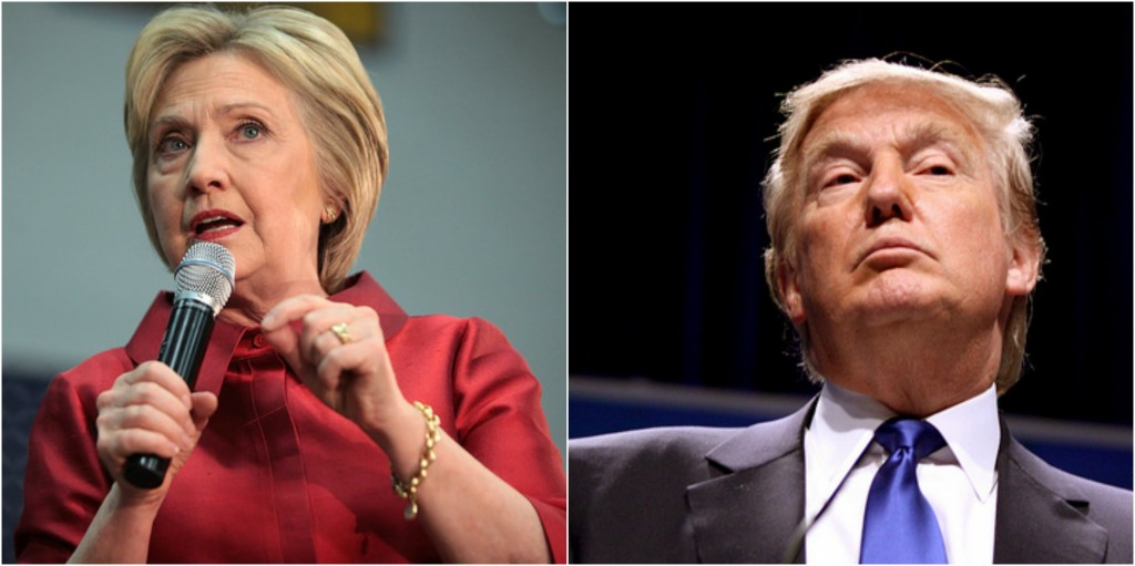 Double negative for Mexico? Clinton has distanced herself from NAFTA, while Trump has stated he will revisit the U.S. stance regarding the agreement. Image: Gage Skidmore/Flickr License (Changes: Made both images into one)