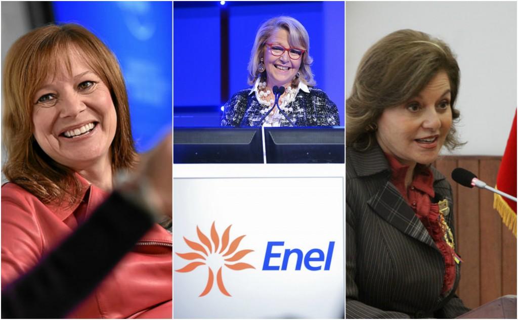 Photo: Mary Barra/WEF; Maria Patrizia Grieco/Enel; Isabel Noboa/Asamblea Nacional del Ecuador Flickr.