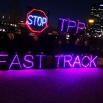 A group of anti-TPP protesters in Dallas, Texas. Image: Backbone Campaign/Flickr (CC BY 2.0)