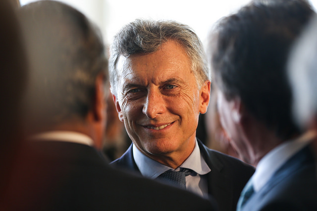 Argentine president Mauricio Macri during a state visit to Brazil. Image: Agencia Brasil do Fotografias/Flickr
