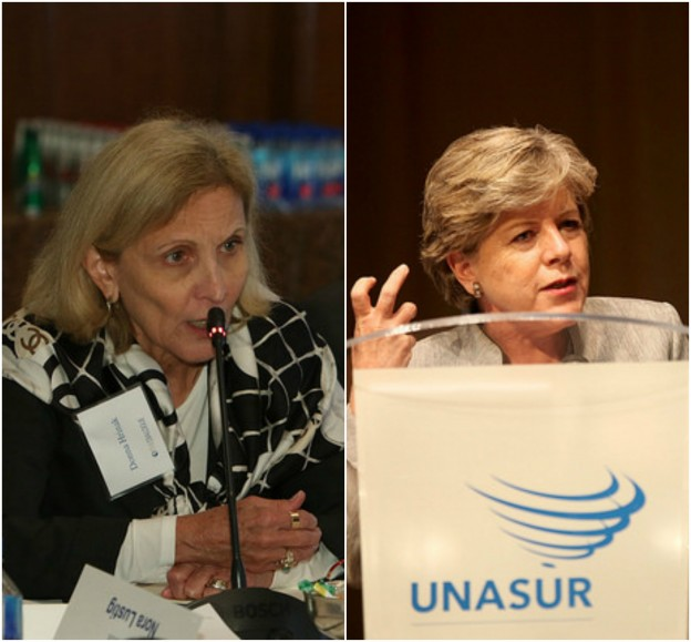 From left: Donna Hrinak, President, Boeing Latin America; Alicia Bárcena, Executive Secretary of the United Nations Economic Commission for Latin America and the Caribbean. Images: Inter-American Dialogue, Cancillería del Ecuador/Flickr